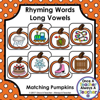 Long Vowel Rhyming Words - Pumpkin Match