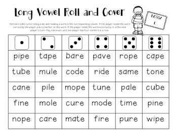 Long Vowel Roll and Cover