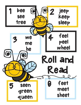 Long Vowel Roll and Read Bundle