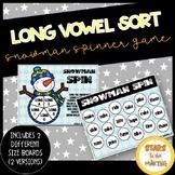 Long Vowel Winter Snowman Spinner Game