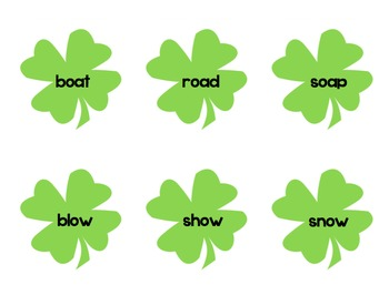 Long Vowel Shamrock Sort