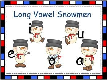Long Vowel Short Vowel Snowmen