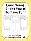Long Vowel Short Vowel Sorting Fun