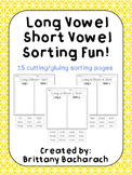 Long Vowel Short Vowel Sorting Fun