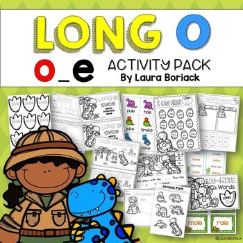 Long Vowel Silent E Activity Pack BUNDLE