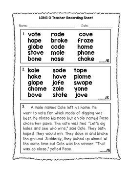 Long Vowel Silent E BUNDLE! - Phonics Fluency Assessment