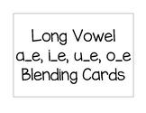 Long Vowel Silent E Blending Cards