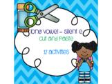 Long Vowel - Silent E Cut and Paste Bundle {12 activities}