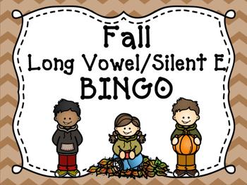 Long Vowel/Silent E Fall Bingo