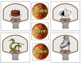 Long Vowel Silent E Matching Basketball Game Common Core