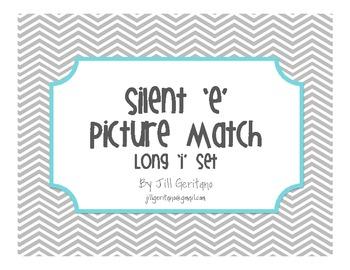 Long Vowel Silent E Picture Match - Long 'i' Set