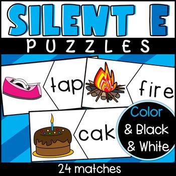 Long Vowel Silent E Puzzles