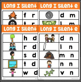 Long Vowel Silent E Word Family Center Activities BUNDLE
