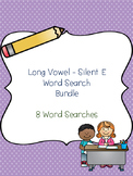 Long Vowel - Silent E Word Search Bundle! {8 word searches}