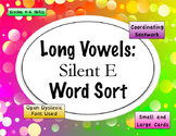 Long Vowel Silent E Word Sort {Differentiated} + Seat work