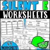 Long Vowel Silent E Worksheets
