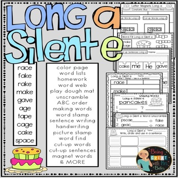 Long Vowel Silent e Bundle Hands-on Spelling and Phonics
