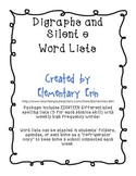 Long Vowel Silent e Differentiated Word Lists for Reading