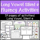 Long Vowel Silent e Fluency Activities