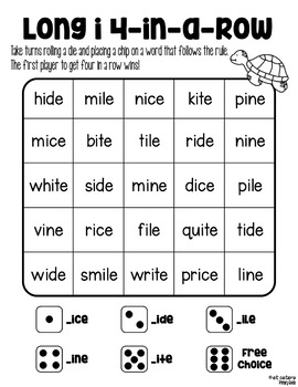 Long Vowel Silent e Four in a Row