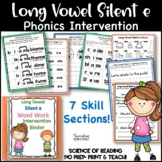 Long Vowel Silent e Intervention Binder