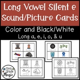 Long Vowel Silent e Picture Cards for Phonemic Awareness and Word Building