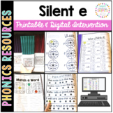 Long Vowel Silent e Printable Intervention