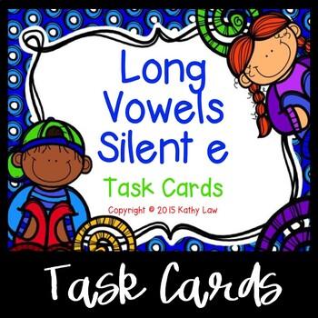 Long Vowel Silent e Task Cards