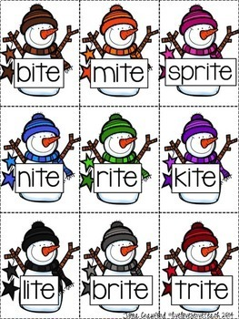 Long Vowel Game: Snowman SPLAT!