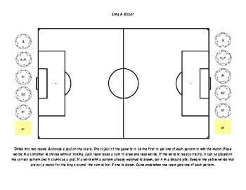 Long Vowel Soccer Sort Game