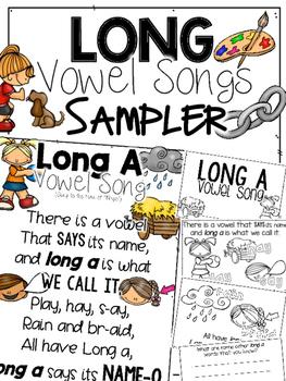 Long Vowel Songs & Booklet Sample
