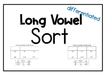 Long Vowel Sort Freebie!