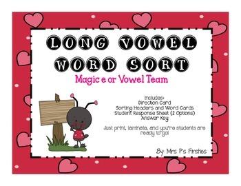 Long Vowel Sort - Magic e or Vowel Team