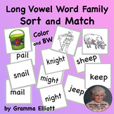 Long Vowel Sort and Match Activities