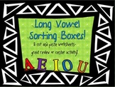 Long Vowel Sorting Boxes