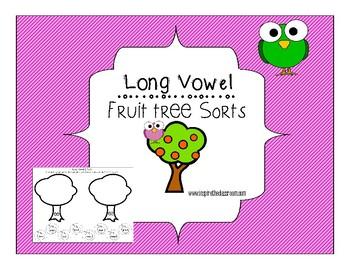 Long Vowel Sorting Bundle ~fruit trees~