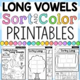Long Vowel Sorting and Coloring Posters and Printables