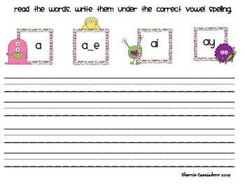 Long Vowel Sorts Bundle