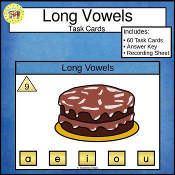Long Vowels Clip Cards