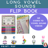 Long Vowel Sound Interactive Flip book with QR codes - Com