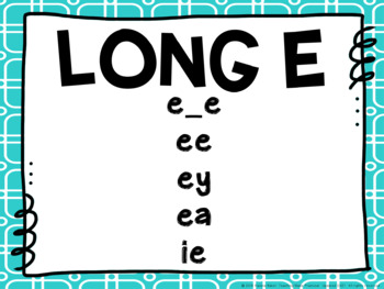 Long Vowel Sound Posters