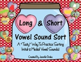 Long & Vowel Sound Sort ~100 Pic Cards For Initial & Medial Short & Long Vowels~
