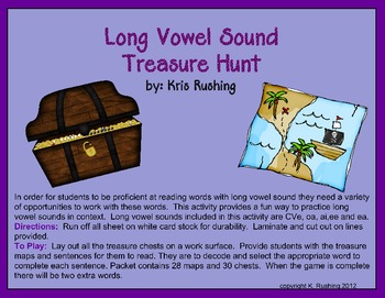 Long Vowel Sound Treasure Hunt