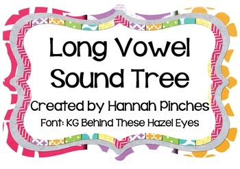 Long Vowel Sound Tree-Spelling Patterns