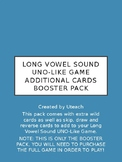 Long Vowel Sound UNO-Like Game Booster Pack