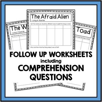 Long Vowel Sounds - A, E, I, O, U Reading Passages and Comprehension Questions