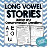 Long Vowel Sounds - A, E, I, O, U Reading Passages and Com