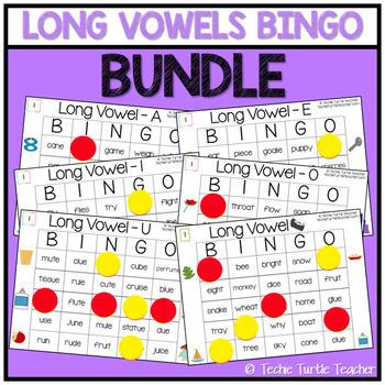Long Vowel Sounds Bingo Bundle (6 Games)