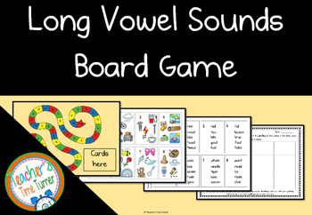 Long Vowel Sounds Board Game