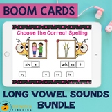 Long Vowel Sounds Boom Cards | Long Vowels Word Work | Dis
